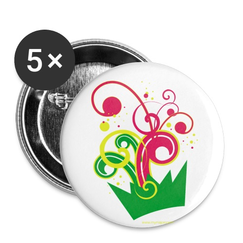 Maxi badge couronne - Badge grand 56 mm