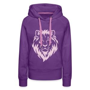 Mädels Kapuzenshirt Löwe - Frauen Premium Hoodie