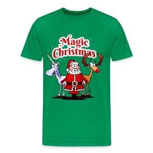 Magic Christmas with a unicorn - Men's Premium T-Shirt