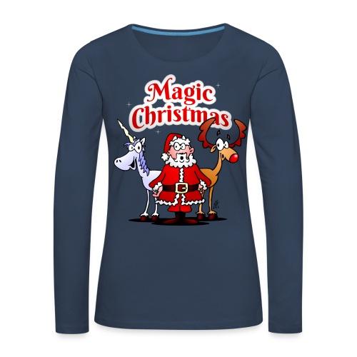 Magic Christmas with a unicorn - Women's Premium Longsleeve Shirt
