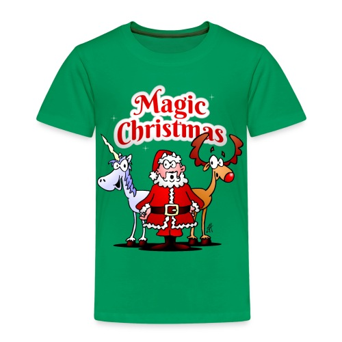 Magic Christmas with a unicorn - Kids' Premium T-Shirt