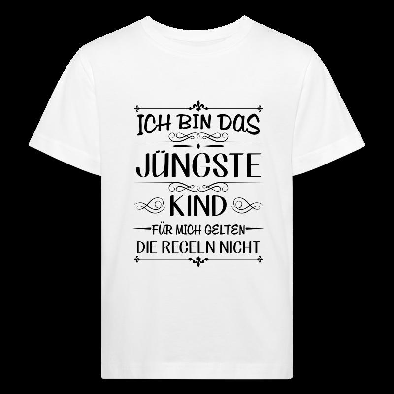 Ich bin das jüngste Kind keine Regeln - Kinder Bio-T-Shirt