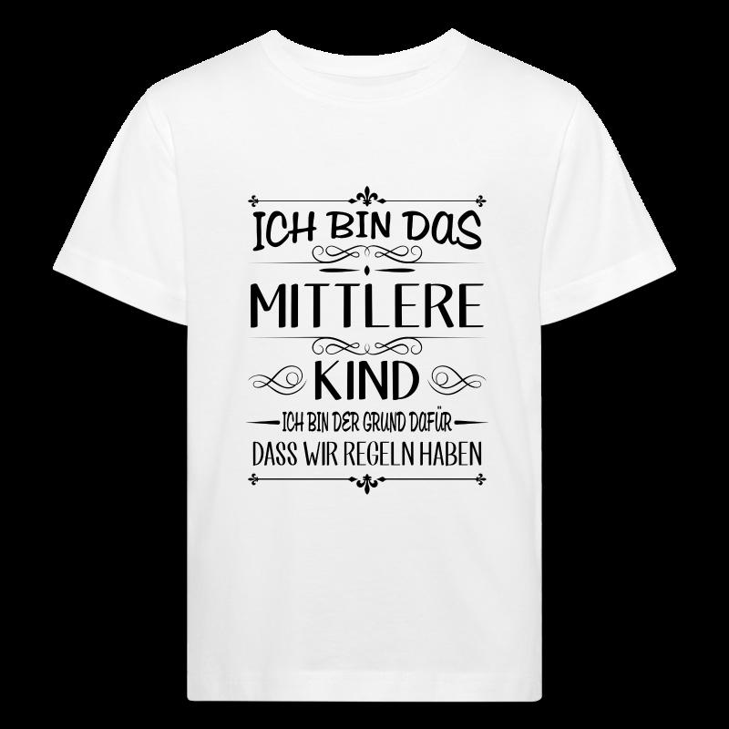 Ich bin das mittlere Kind der Grund für Regeln - Kinder Bio-T-Shirt