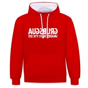 Augsburg (white oldstyle) - Kontrast-Hoodie
