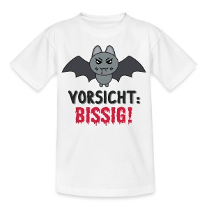 Teenager T-Shirt Vorsicht: Bissig! - Teenager T-Shirt