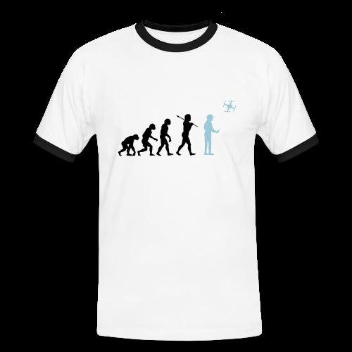 Evolution of RC Flyers - Männer Kontrast-T-Shirt