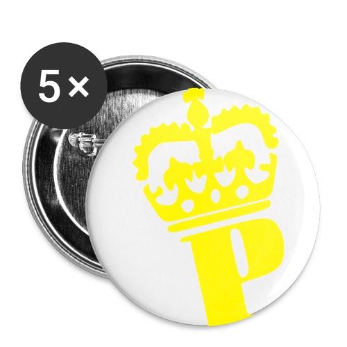 Gul - Buttons/Badges mellemstor, 32 mm (5-pack)