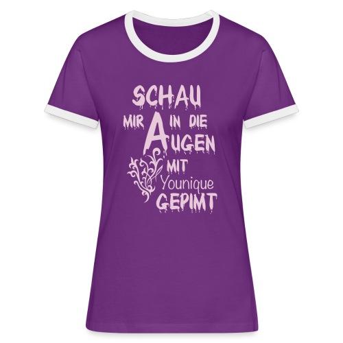 SportShirt - Frauen Kontrast-T-Shirt