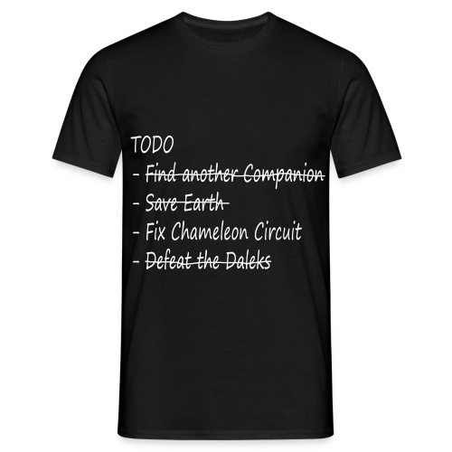 The Doctor's TODO List (black) - Men's T-Shirt