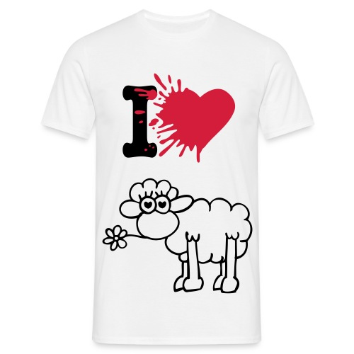 I love sheep - Men's T-Shirt