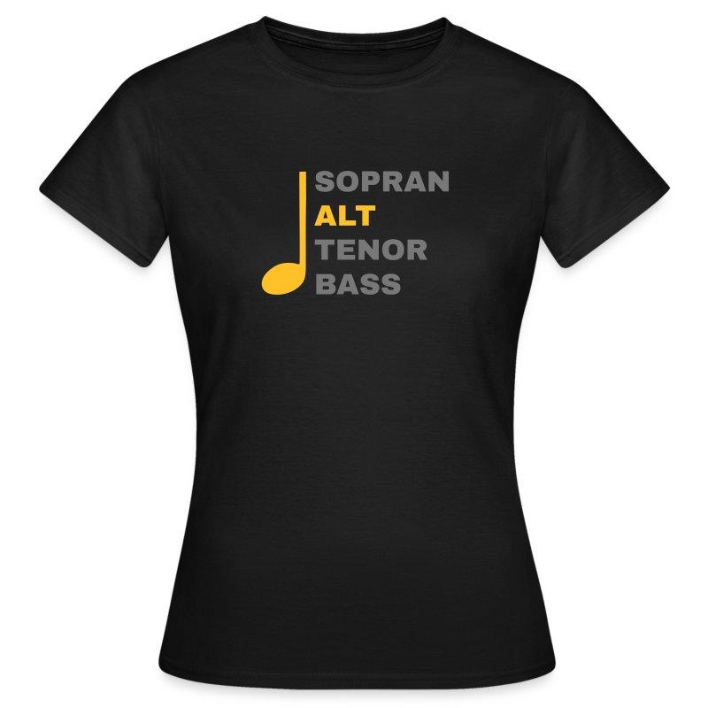 SATB mit Note - Alt - Frauen T-Shirt