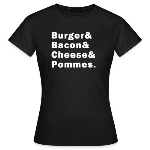 Burger & - Shirt (Frauen), schwarz - Frauen T-Shirt