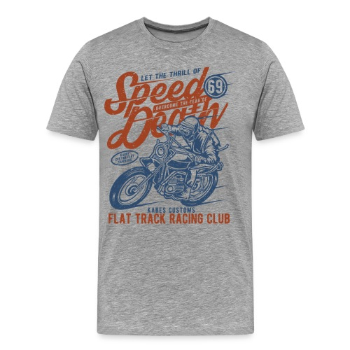 Flat Track Motorcycle Club - Men's Premium T-Shirt