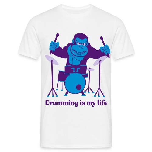 Drumming is my life - Herre-T-shirt