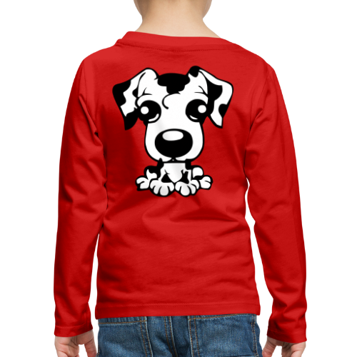 Kinder Premium Langarmshirt - sporthund,schäferhund,schutzdienst,helfer,belgischer,belgian,WM,Shepherd,SD,Malinois,IPO,Hundesport,Hundeschule,Hundeliebhaber,Hundeliebe,Hundekopf,Hundehalter,Hundefreunde,Hundefreund,Hundeerziehung,Hundebesitzer,Hund