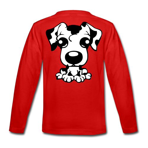 Teenager Premium Langarmshirt - sporthund,schäferhund,schutzdienst,helfer,belgischer,belgian,WM,Shepherd,SD,Malinois,IPO,Hundesport,Hundeschule,Hundeliebhaber,Hundeliebe,Hundekopf,Hundehalter,Hundefreunde,Hundefreund,Hundeerziehung,Hundebesitzer,Hund