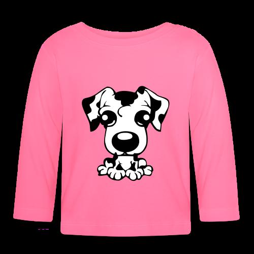 Baby Langarmshirt - sporthund,schäferhund,schutzdienst,helfer,belgischer,belgian,WM,Shepherd,SD,Malinois,IPO,Hundesport,Hundeschule,Hundeliebhaber,Hundeliebe,Hundekopf,Hundehalter,Hundefreunde,Hundefreund,Hundeerziehung,Hundebesitzer,Hund