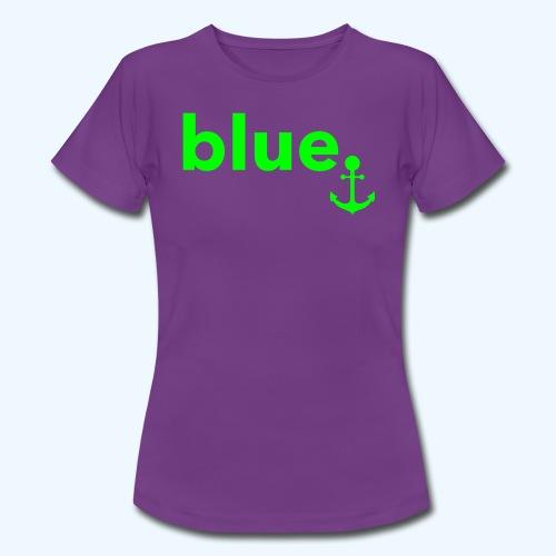 blue. - Frauen T-Shirt - Frauen T-Shirt