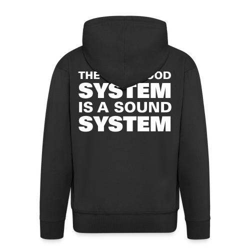 sound system  - Men's Premium Hooded Jacket