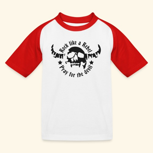 Kids' Baseball T-Shirt Rock & Devil Collection - Kids' Baseball T-Shirt