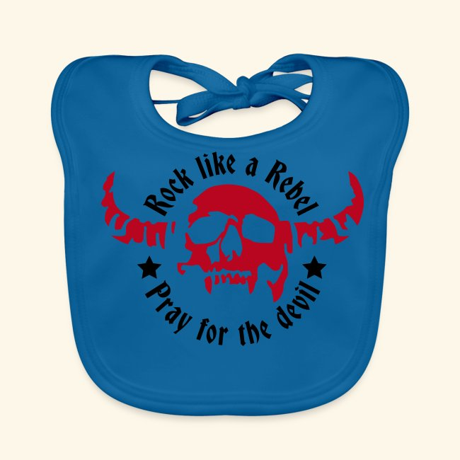 Baby Organic Bib Rock & Devil Collection