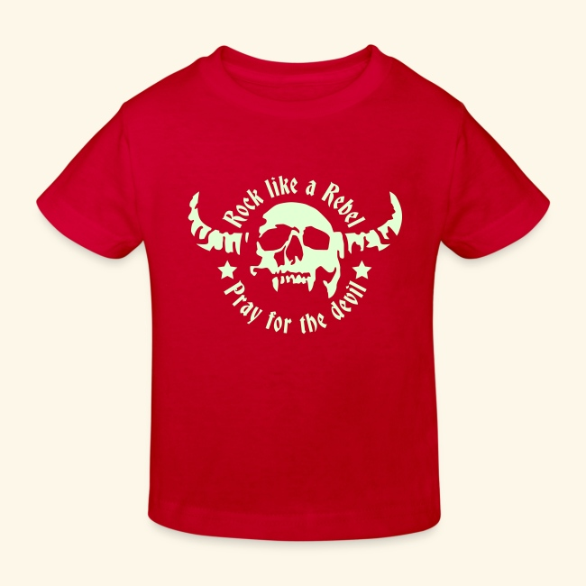 Kids' Organic T-shirt Rock & Devil Collection 3-14years