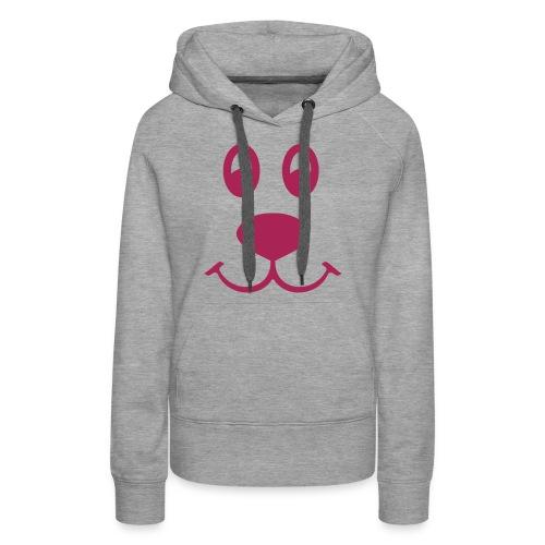 Hette genser (dame) med søt hund. - Premium hettegenser for kvinner