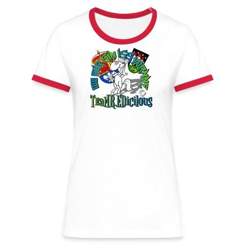 LADY ED color - Frauen Kontrast-T-Shirt