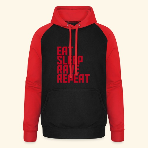 Eat Sleep Rave Repeat Collection Unisex Baseball Hoodie - Unisex Baseball Hoodie