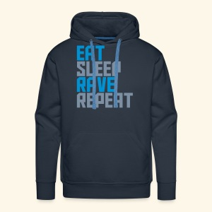 Eat Sleep Rave Repeat Winter Hat Rave Collection - Men's Premium Hoodie