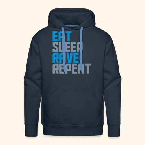 Eat Sleep Rave Repeat Winter Hat Rave Collection - Men's Premium Hoodie