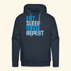 Eat Sleep Rave Repeat Hoodie Collection Men's Premium Hoodie Heavy Duty - Men's Premium Hoodie