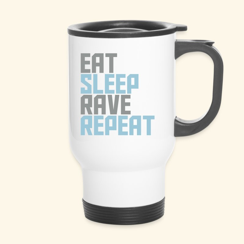 Eat Sleep Rave Repeat Travel Mug - Travel Mug