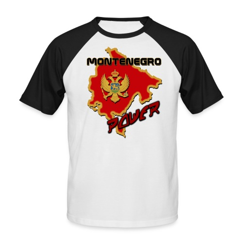 Montenegro Power - Men's Baseball T-Shirt