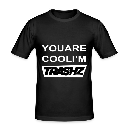 Trashz Recordz special edition summer 2014 man black - Men's Slim Fit T-Shirt
