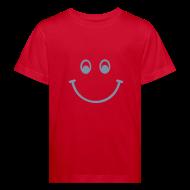 T-Shirts ~ Kinder Bio-T-Shirt ~ Smiley (silber) - Kinder Bio T Shirt