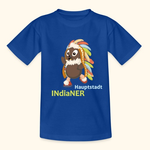 Kinder Premium T-Shirt Pittiplatsch Hauptstadtindianer - Kinder T-Shirt