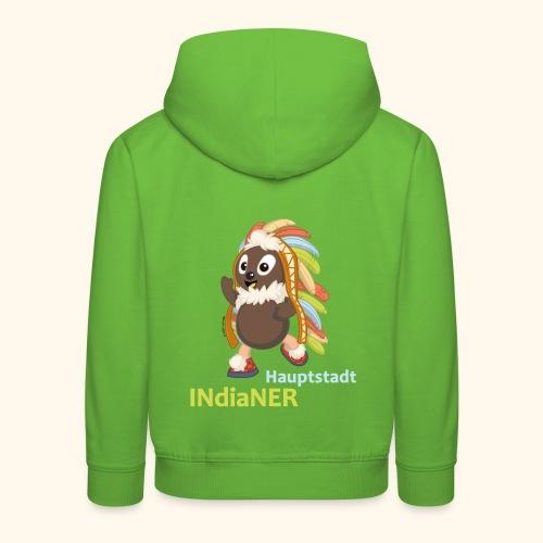 Kinder Premium Hoodie Pittiplatsch Hauptstadtindianer - Kinder Premium Hoodie