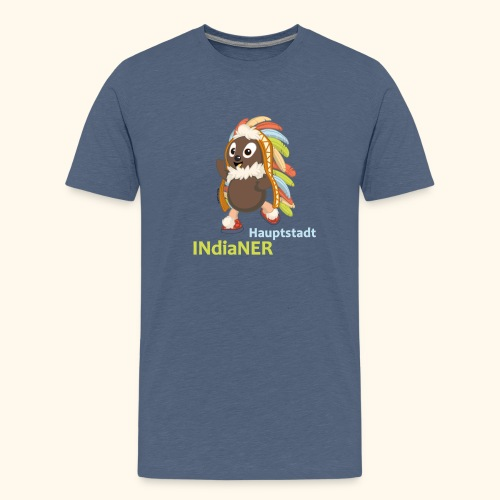 Teenager Premium T-Shirt Pittiplatsch Hauptstadtindianer - Teenager Premium T-Shirt