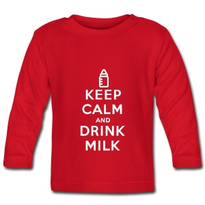 Keep calm and drink milk - T-shirt