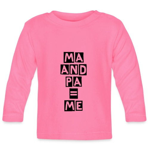 TS MANCHES LONGUES ROSE MA AND PA ME - T-shirt manches longues Bébé