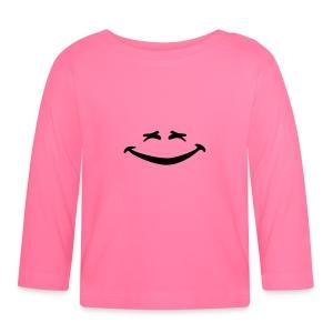 Smiley yeux plissés rire - Baby Langarmshirt