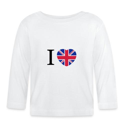 I love England Coeur - T-shirt manches longues Bébé