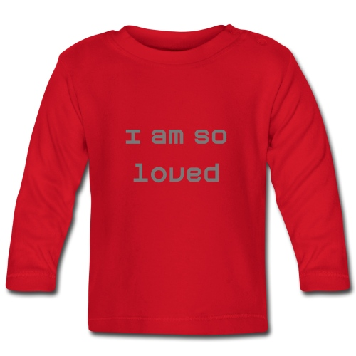 'I am so loved' - Baby long-sleeve tee - Baby Long Sleeve T-Shirt