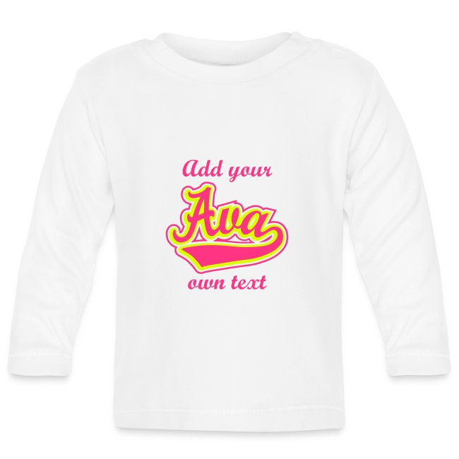 Names on Shirts | The name Ava - Baby T-shirt - Baby Long ...