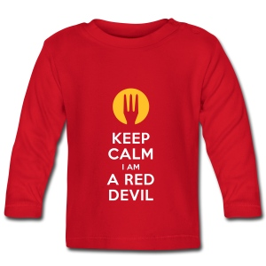 keep calm i am a red devil - T-shirt