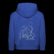 Pullover & Hoodies ~ Kinder Premium Kapuzenpullover ~ Maus (silber) - Kinder Poloshirt