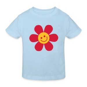 Happy Flower - Kinder Bio T Shirt - Kinder Bio-T-Shirt