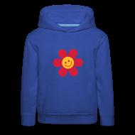 Pullover & Hoodies ~ Kinder Premium Kapuzenpullover ~ Happy Flower - Kinder Kapuzenpullover