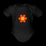Baby Bodys ~ Baby Kurzarm-Body ~ Happy Flower - Babys Body